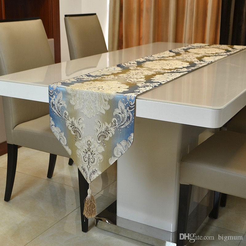 Moderner Luxus-minimalistischer minimalistischer Jacqurard-Tischläufer für Couchtisch Tischset Dekoration Tischdecke 32 cm x 210 cm