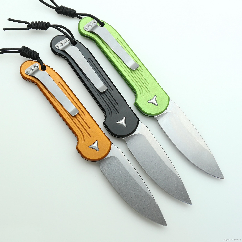 سكين سريع في الهواء الطلق عمل واحد D2 حجر غسل شفرة مقبض سبائك الألومنيوم التخييم الصيد الطي سكين جيب هدية أدوات يدوية MT