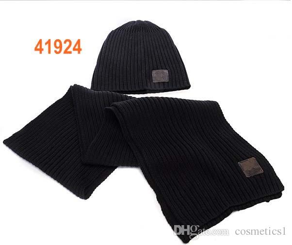 New Brand Designer Winter Cashmere Hat Scarf Sets for Men Women Warm ... d5da275154f