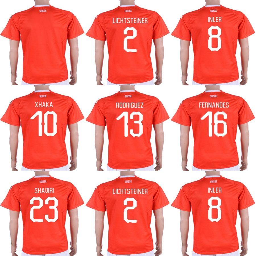 2012b200c2e 2018 World Cup Switzerland Men Lady Kid 10 XHAKA 9 SEFEROVIC 8 ...