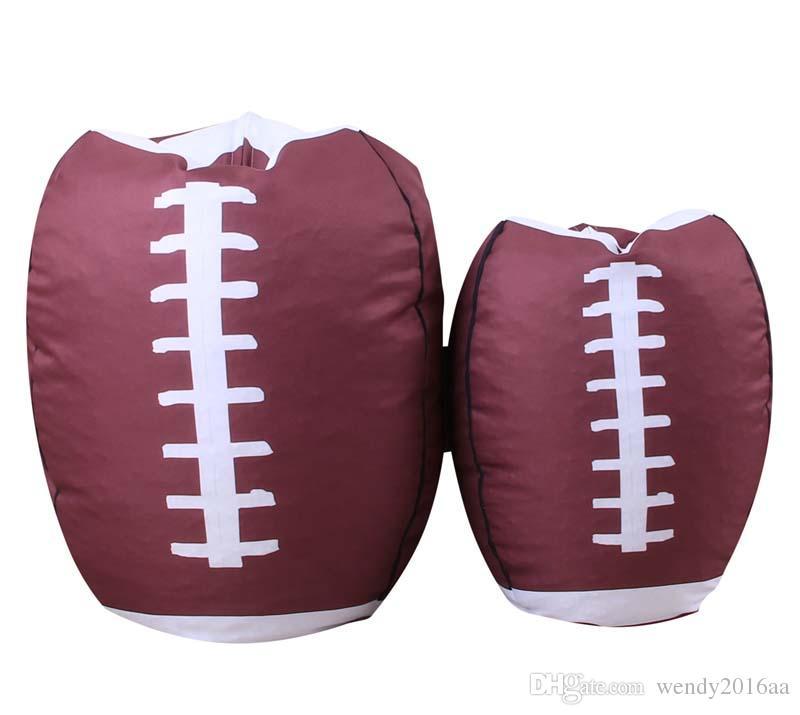 Football Basketball Baseball Storage Bean Bag 18inch Stuffed Animal Plush Pouch Bag Clothing Laundry Storage Organizer