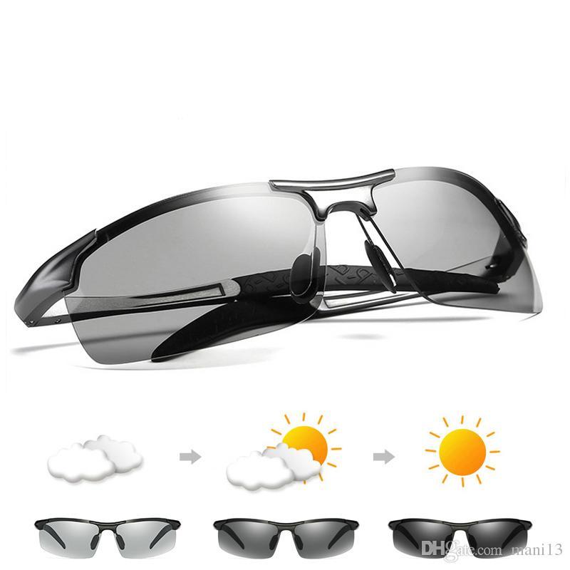 b59b2955e9 Compre Gafas De Sol Fotocromáticas De Aluminio Magnesio Chameleon Gafas De  Sol Polarizadas Mujeres Hombres Todo El Día Cambio De Color Para Tonos De  Nieve A ...