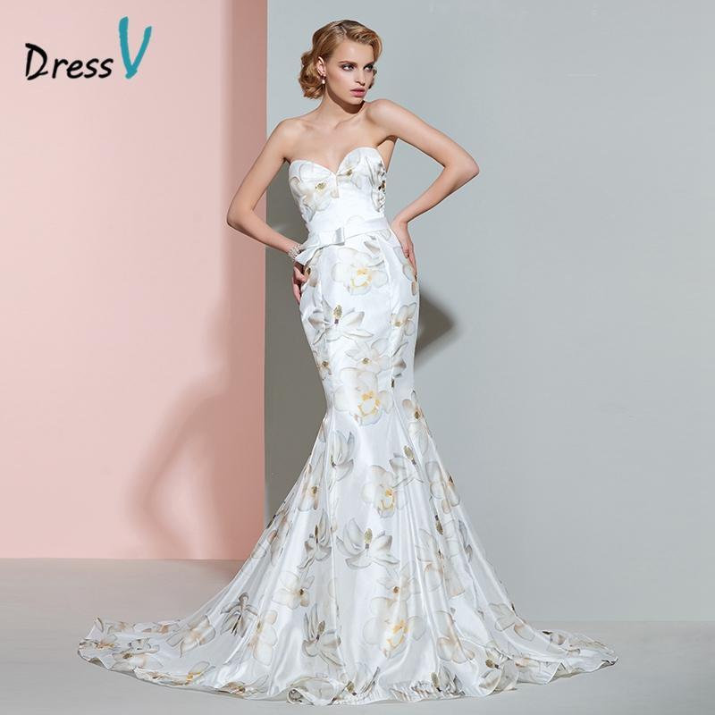 compre venta al por mayor de impresión sirena vestido de novia sweet