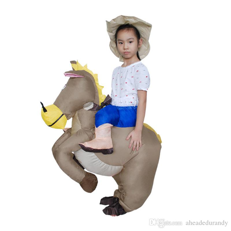 Inflatable cowboy Dinosaur costume Ride on horse Fancy party dress Halloween costumes for Women
