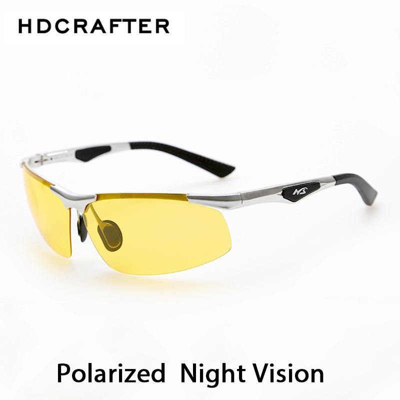 4233b04afe1da Night Driving New HDCRAFTER Anti-Glare Goggles Eyeglasses Polarized  Sunglasses Yellow Lens Shades Fashion UV400 Protection Glasses Night  Driving Goggles ...