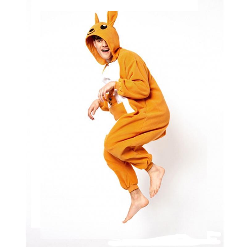 Winter Adult Onesie Pajamas Anime Costume Kangaroo Sleepwear Animal Pajamas Women pajamas Men Onesie Polar Fleece Sleepwear
