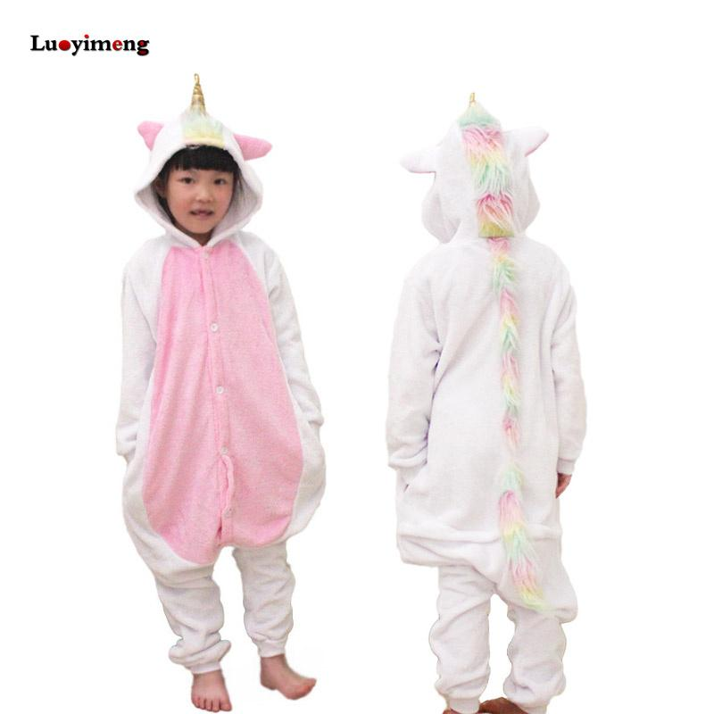 d3fd4a404d New Pajamas Unisex Kids Winter Flannel Cartoon Unicorn Onesie Licorne  Stitch Costume Child Boys Girls Christmas Homewear Pyjama Footed Pajamas  For Big Kids ...