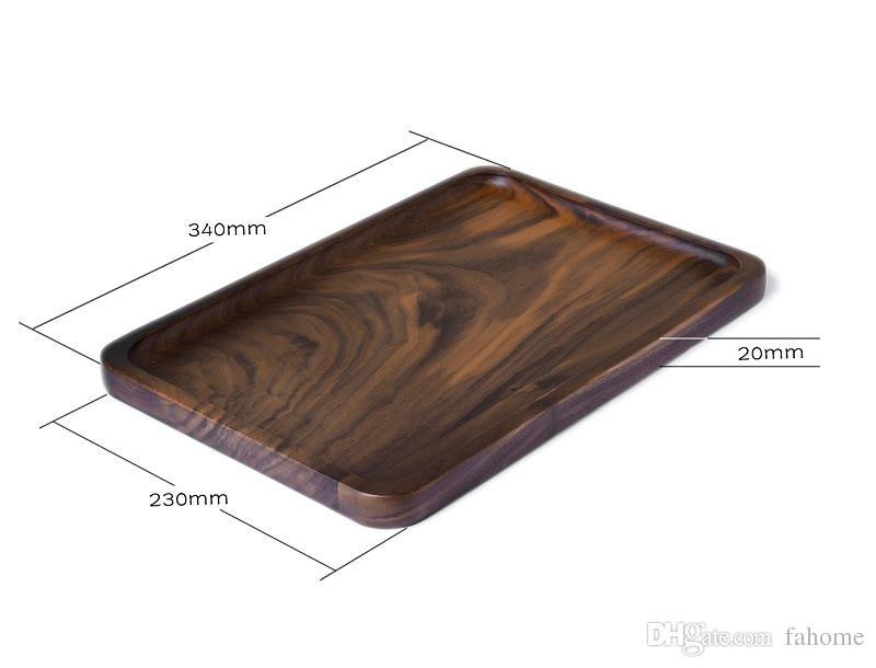 Wooden Serving Tray - Rectangular Medium Size Black Walnut Wood Serving Trays Fruit Dessert Tea Plates - 34cm X 23cm Home Wine Decor Wooden Serving Tray ...  sc 1 st  DHgate.com & Wooden Serving Tray - Rectangular Medium Size Black Walnut Wood ...
