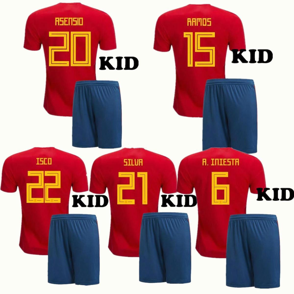 ce814d037 2014 world cup spain 10 fabregas home soccer shirt kit