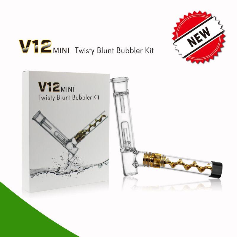 V12 Mini Twist Blunt Bubbler Kit Glasrohr V12 Mini mit Bubbler Kit Ginder Filtersystem Starter-Kits mit 510er Glasrohr