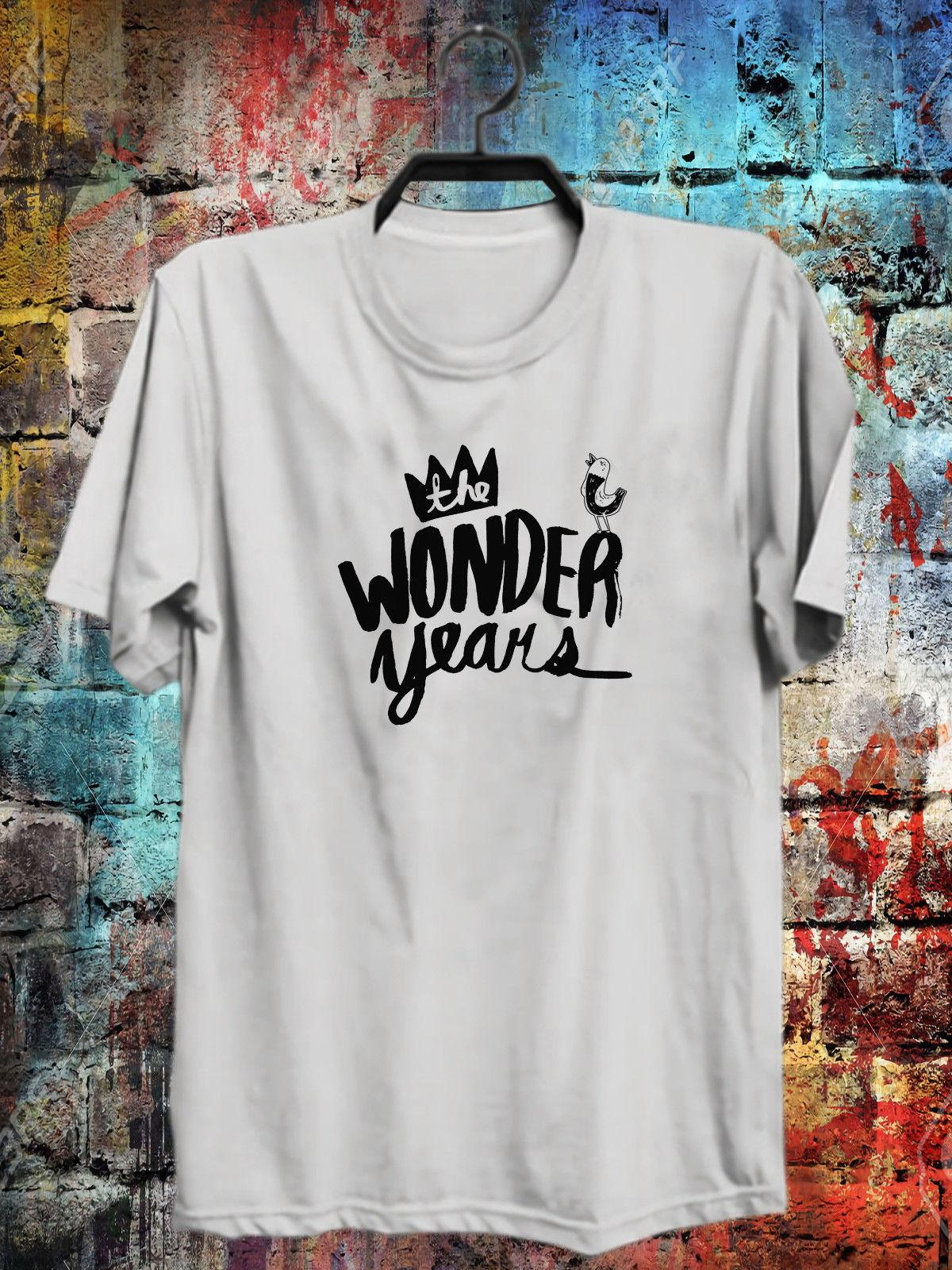 The Wonder Years Band White Logo T Shirt S-2XL