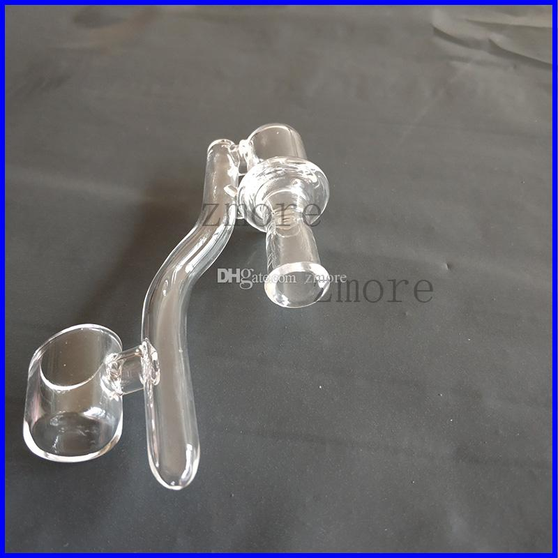Dropdown al quarzo con chiodo Banger 2mm Spessore 10mm 14mm 18mm Femmina Maschio Clear Joint Drop Down Dab Rig