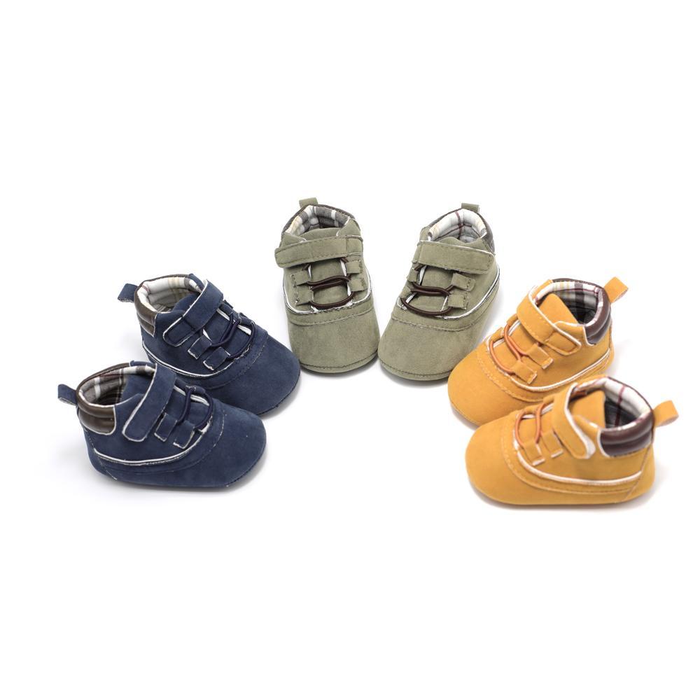 6368b332d Купить Оптом Новорожденная Детская Обувь Для Малышей Унисекс Детская Обувь  Детские Пинетки Prewalker Осень Согреться Детские Пинетки 0 18 Месяцев ...