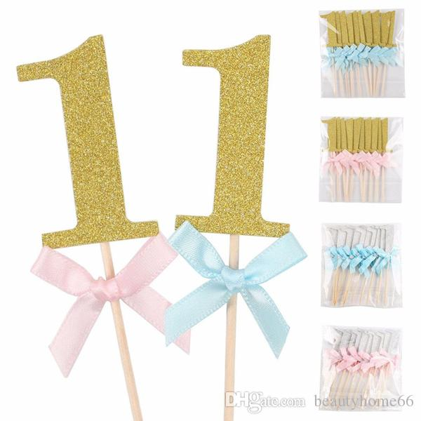 2019 First Birthday Cupcake Toppers Boy Girl 1st Year Party Cake Decoration Food Picks Baby Shower Decor From Beautyhome66 147