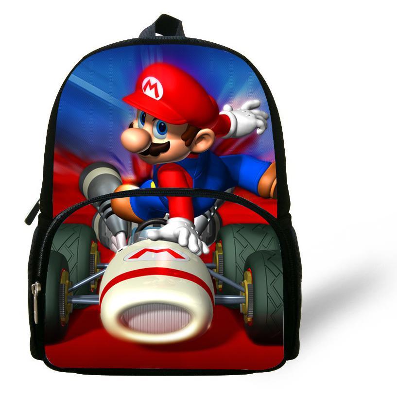 7d2a5577f2b2 12 Inch Little Boys Bag Kids School Backpacks Super Mario Bag Children Girl  Kindergarten Cartoon Mochilas Escolares Infantis Mesh Backpack Justice  Backpacks ...