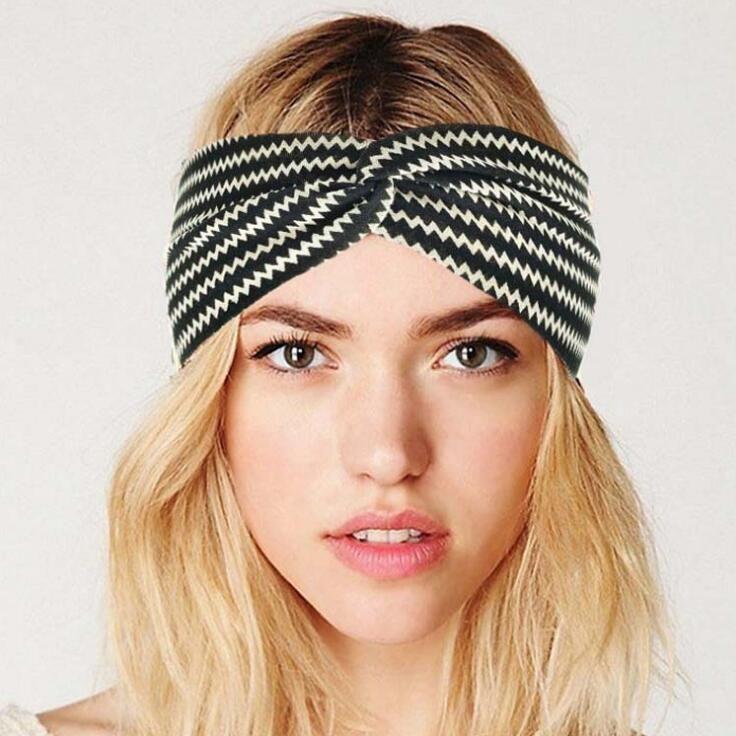 Striped Color Turban Headbands for Women Twist Stretch Hairbands Sport  Headband Yoga Headwrap Hair Band Bandana Girls Hair Accessories LFT38 Women  Headband ... 23b122e7a6a0