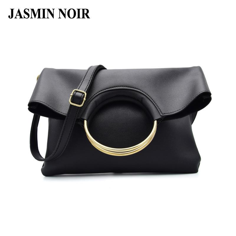 6d39110be045 2017 New Korean Fashion Female Hand Bag Pu Leather Dual Function Women  Messenger Bag Big Gold Ring Designed Ladies Tote Hot Reusable Shopping Bags  Rosetti ...