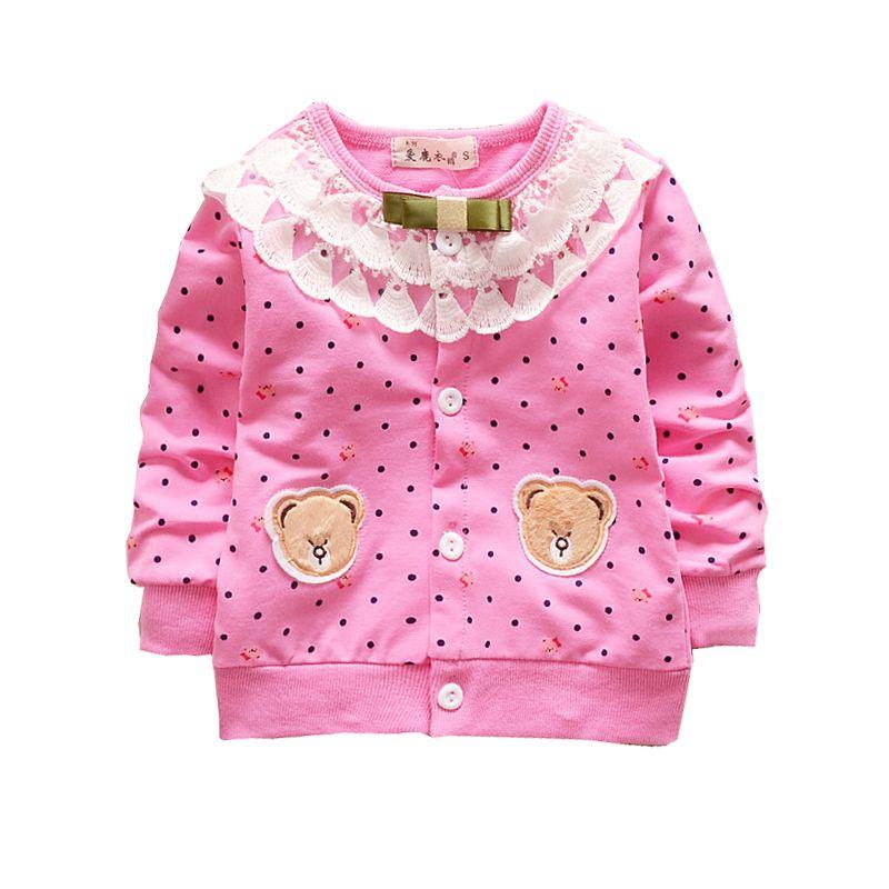 19219b5dd75e5c Großhandel 2018 Herbst Kinderkleidung Baby Mädchen Strickjacke Bär  Kinderjacke Baumwolle Jacken Von Sophine13