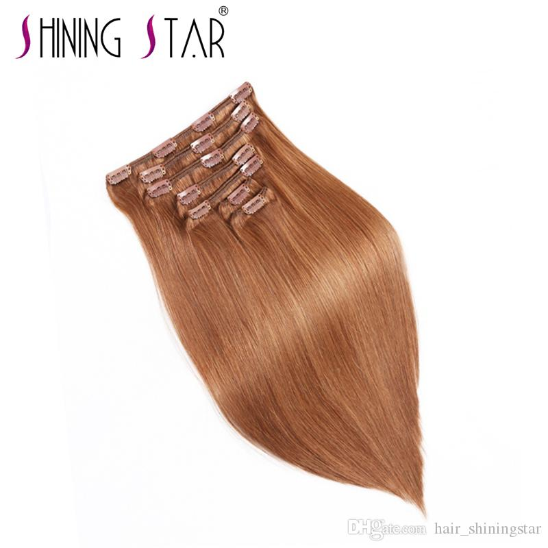 Clip In Human Hair Extensions 100 Real Remy Thick True Double Weft