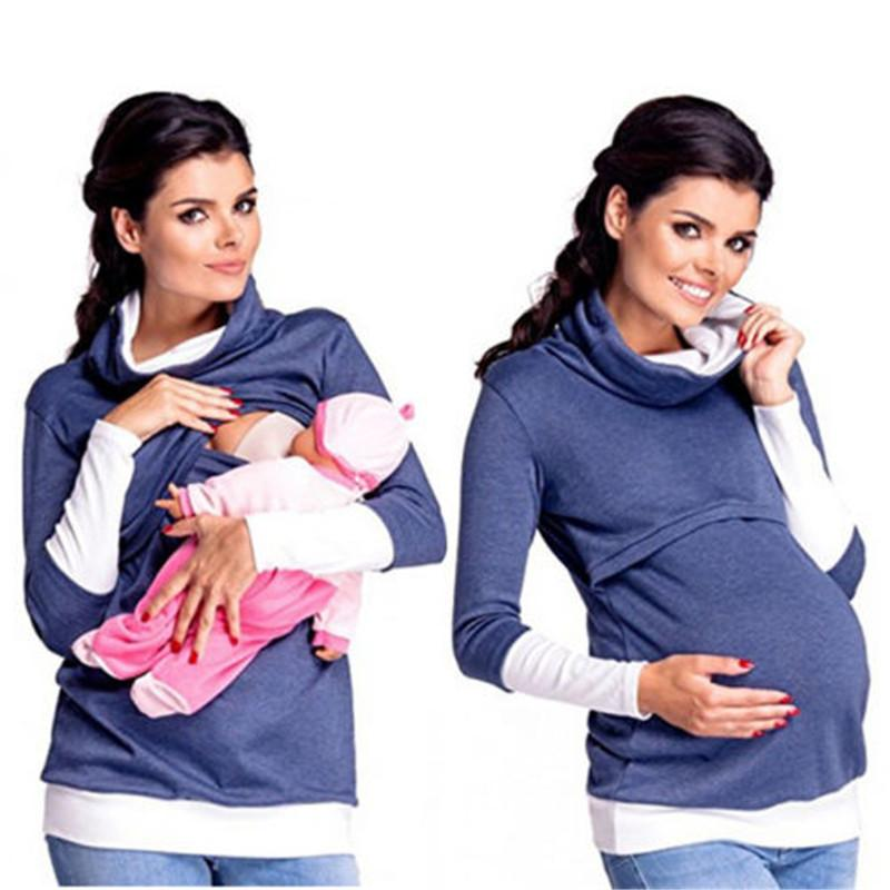 feb210fd648f7 2019 Breastfeeding Maternity Nursing Pregnant Women Nursing Tops Hoodies  High Neck Warm Jumper Pullover Women Casual Clothing From Paradise13, ...