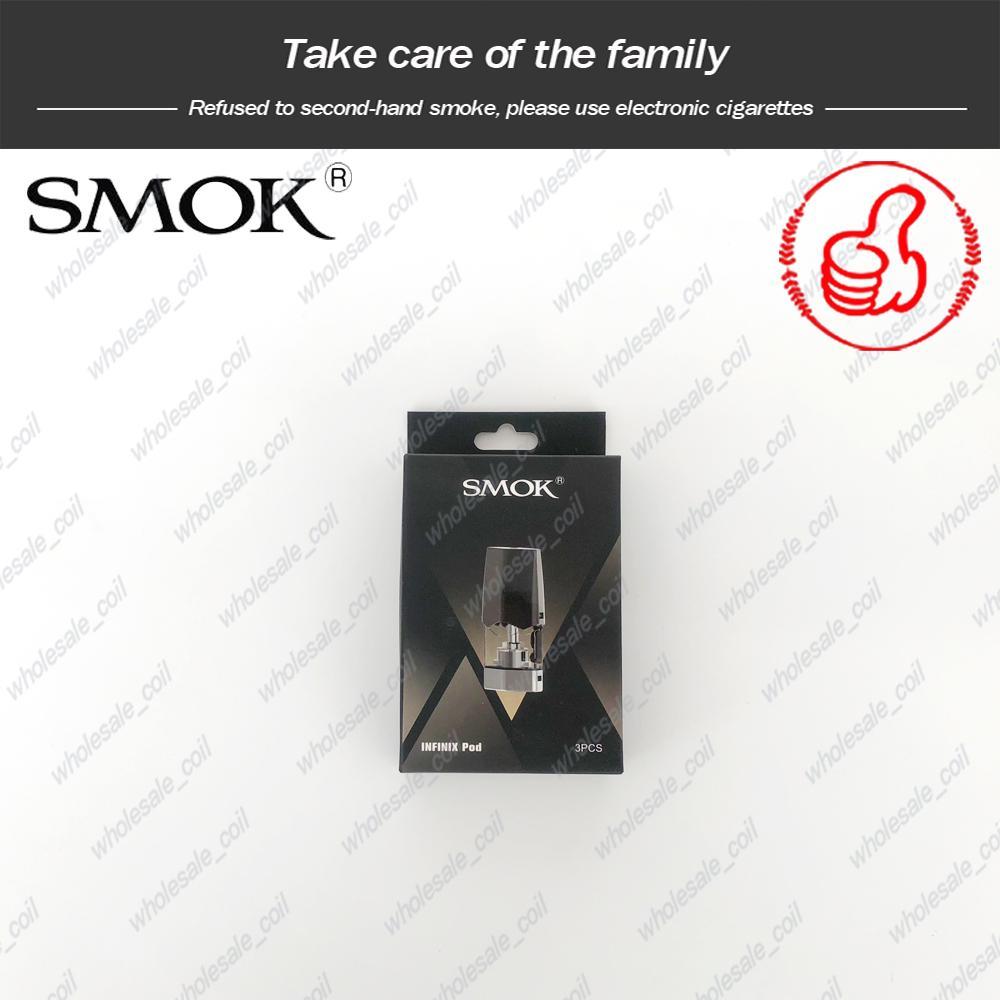 100% Originale SMOK Infinix Pod 2ml 1.4ohm Bobina Cartuccia di ricambio baccelli Smoktech Infinix Vape Pen Kit DHL Free