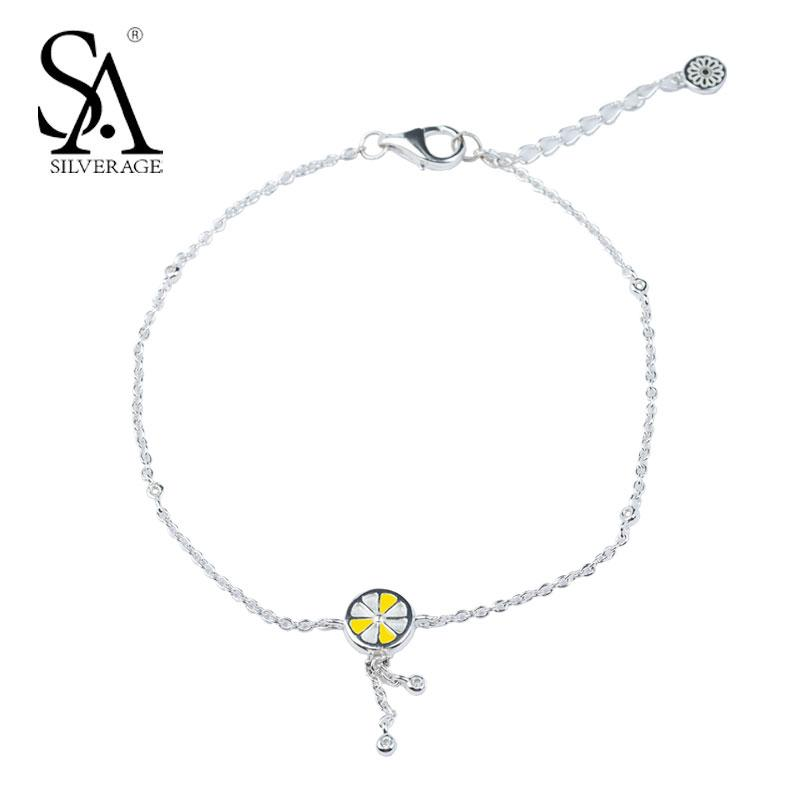 anklet item bracelet link sterling solid bracelets ankle female trendy bell chain real silver shape lovely