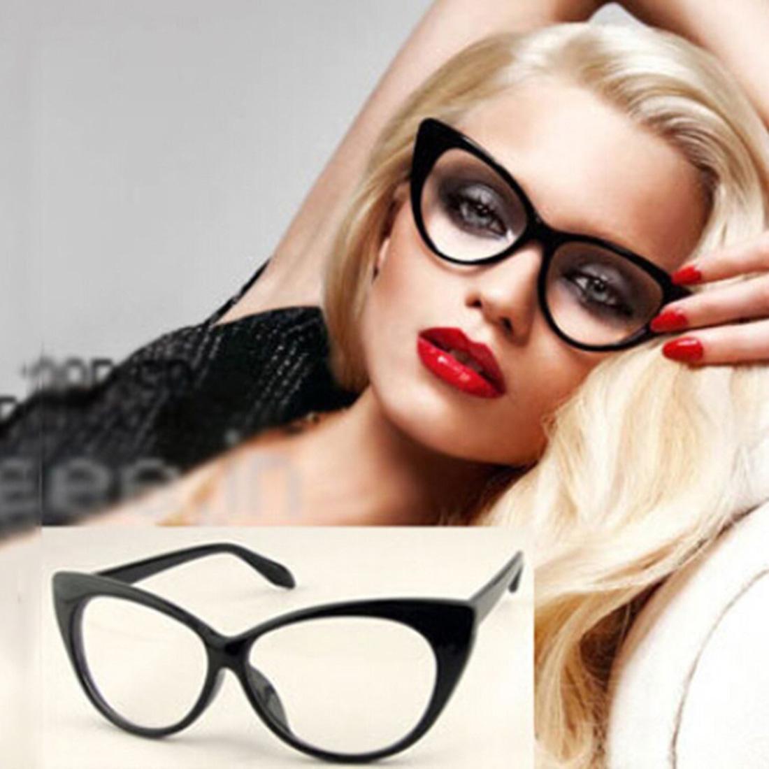 0e5089982cd 2019 Vintage Modern EleCat Eyes Shape Glasses Frame For Ladies Acetate  Optical Frames Retro Plastic Plain Glasses From Kuchairly