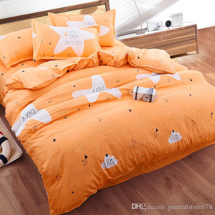 Striped Plaid Bedding Sets Covers for King Size Bed Printing Bedding Duvet Cover Sheets Pillow Cover Wholesale