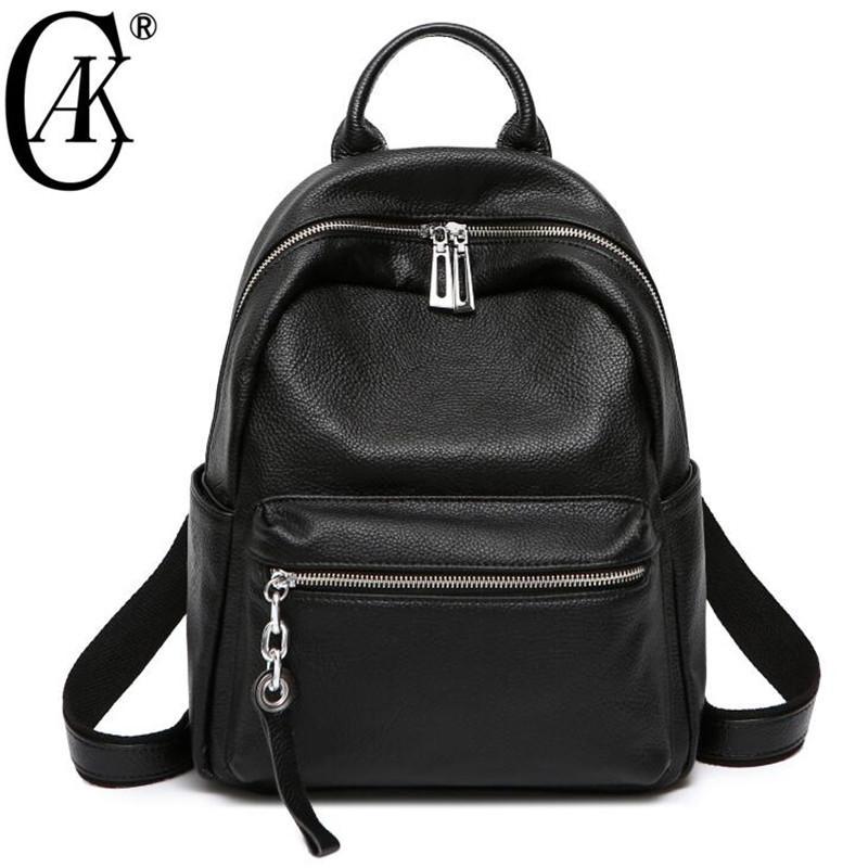 e07e4e9a8d1 CAK Women Backpack Genuine Leather Tassel Shoulder Bag Large Capacity  Backbag Female Zipper School Bag Girl Travel Best Backpacks Girls Backpacks  From ...
