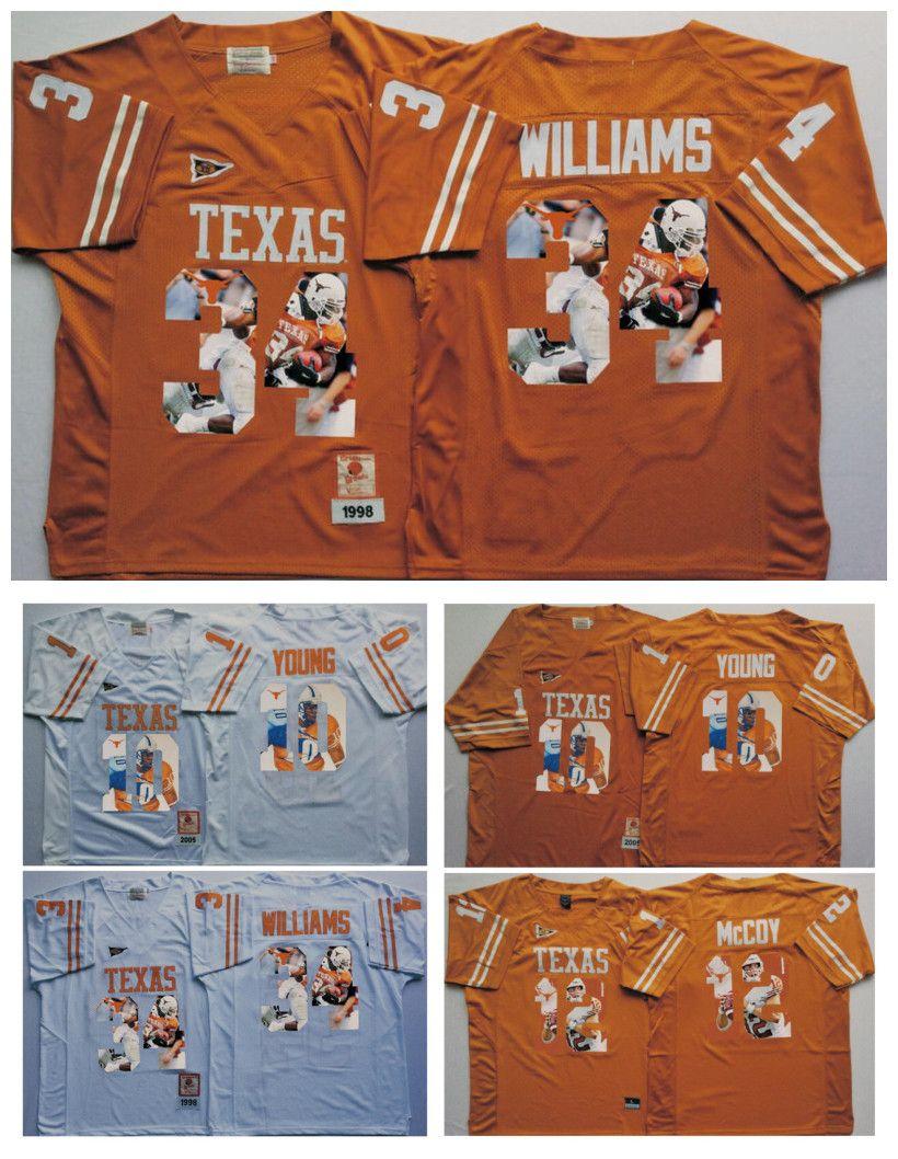eb62776f388e 10 Vince YOUNG 4 Connor Williams 12 Colt McCoy Texas Longhorns White Men  Jersey Mens College Football Jerseys 10 Vince YOUNG 4 Connor Williams 12  Colt NCAA ...