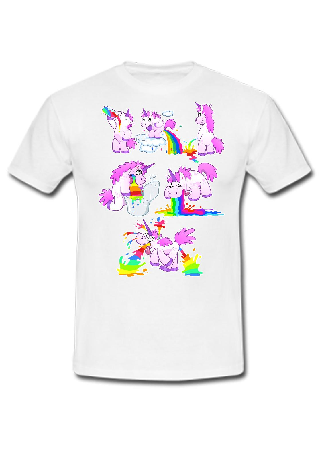Compre Camisas De Algodón Barato Al Por Mayor Unicornio Borracho Night Out  Unisex Camiseta Sick Rainbows Buen Regalo O Presente A  12.58 Del  Banwanyue3 ... 3e46a7a48c8f7