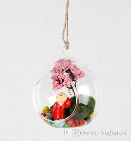 Ball Clear Hanging Glass Globe Shape Vase Flower Plants Terrarium