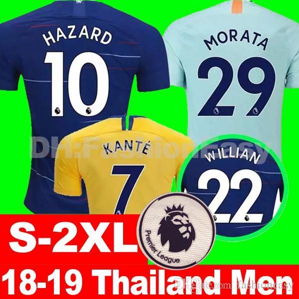 7fed38794d4 Top Thailand HAZARD JORGINHO 3rd Soccer Jersey 2019 KOVACIC GIROUD ...