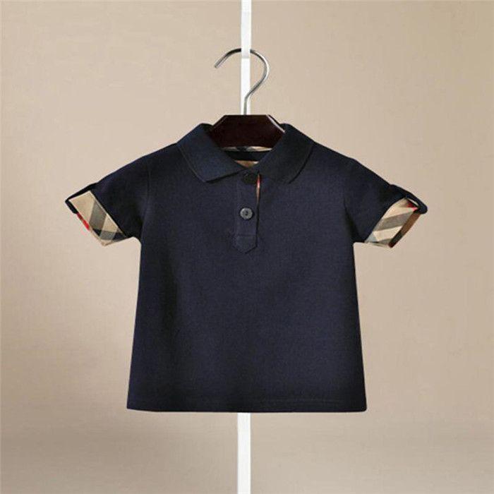 4dc5c75c04ea Tops Breathable Summer Shirts Turn Down Collar Clothing Boys T-Shirt ...