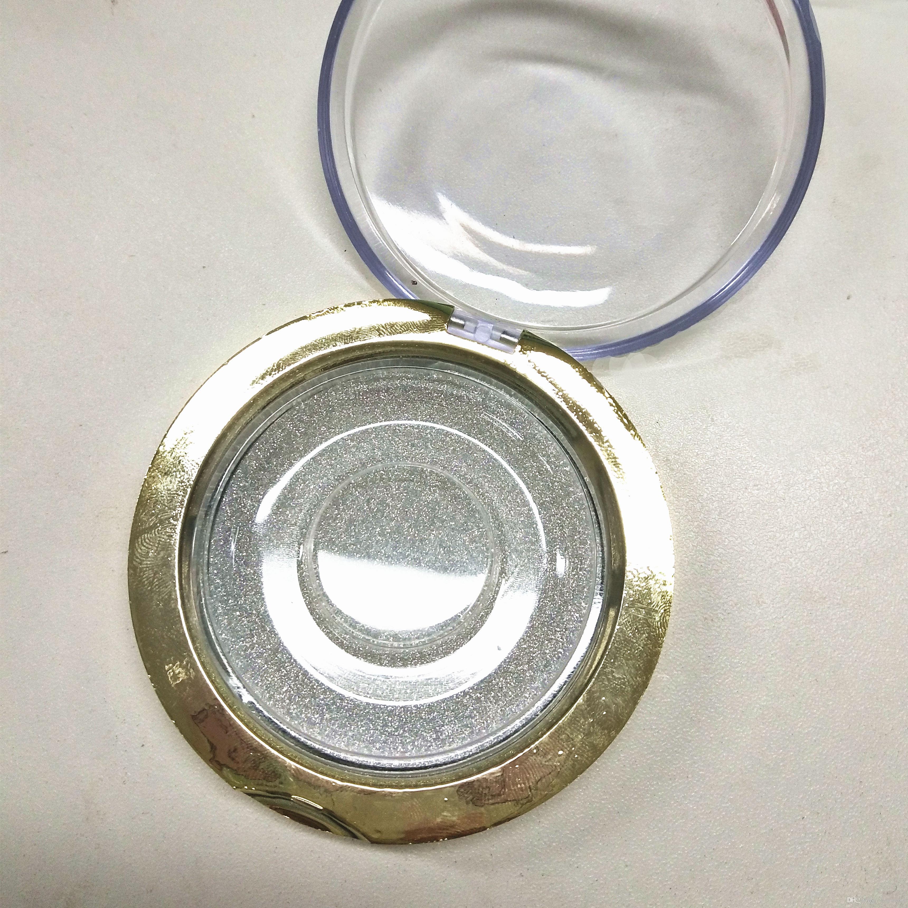 scatola di plastica rotonda oro con logo personalizzato di alta qualità stampa a caldo fondo caldo vendita calda con le ciglia