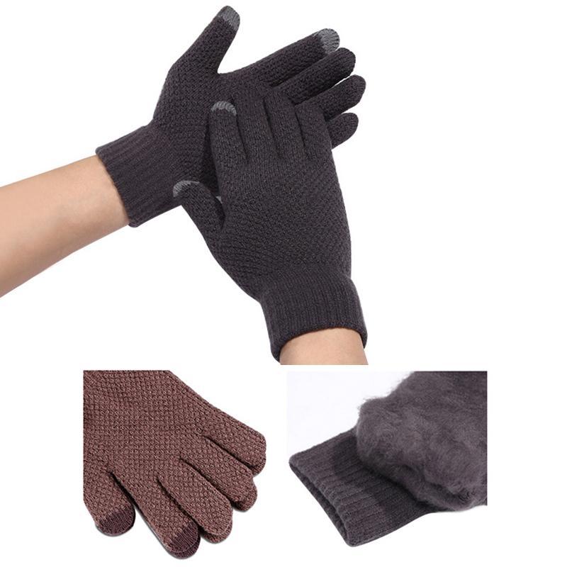 Großhandel Winter Herbst Männer Frauen Gestrickte Handschuhe ...