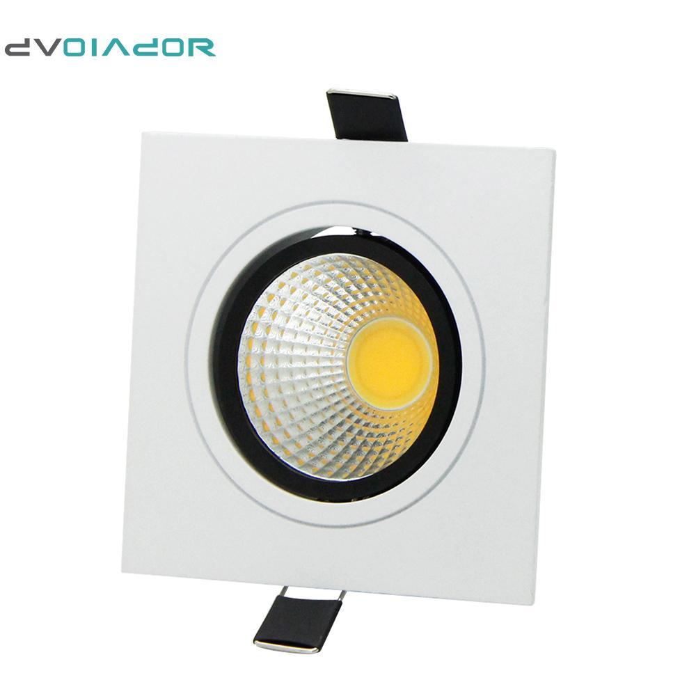DVOLADOR Quadrado Brilhante Embutida Regulável COB led downlight 7 W 9 W 12 W 15 W AC110V-220V led Teto Decoração de Casa Luz + motorista