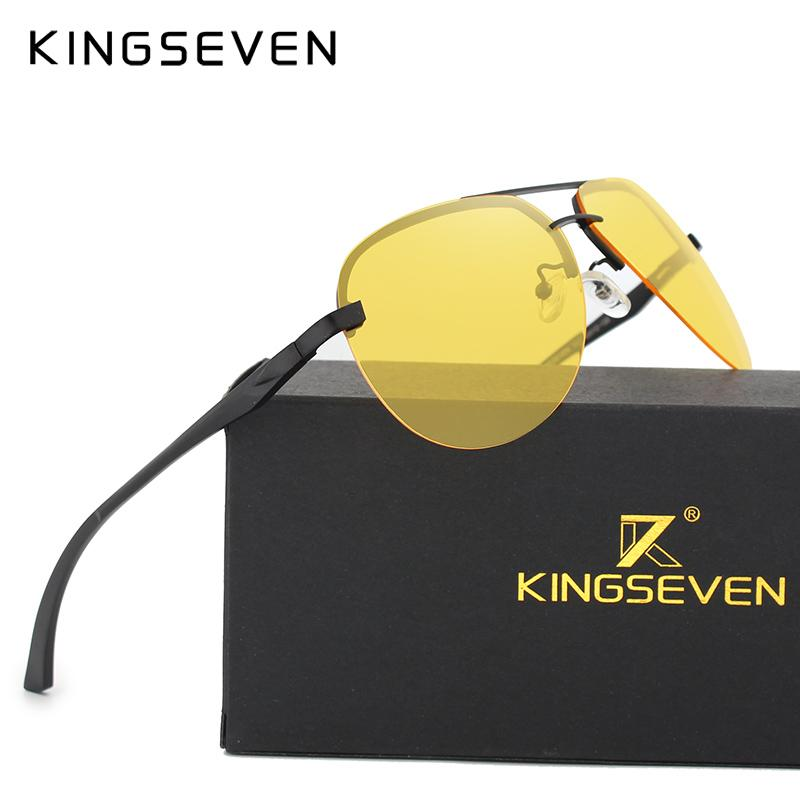 aa9eb4c6558b8 X KINGSEVEN Polarized Night Vision Sunglasses Mens Original Box Goggles  Women Designer Leisure Glasses Oculos De Sol Eyewea Fastrack Sunglasses  Smith ...