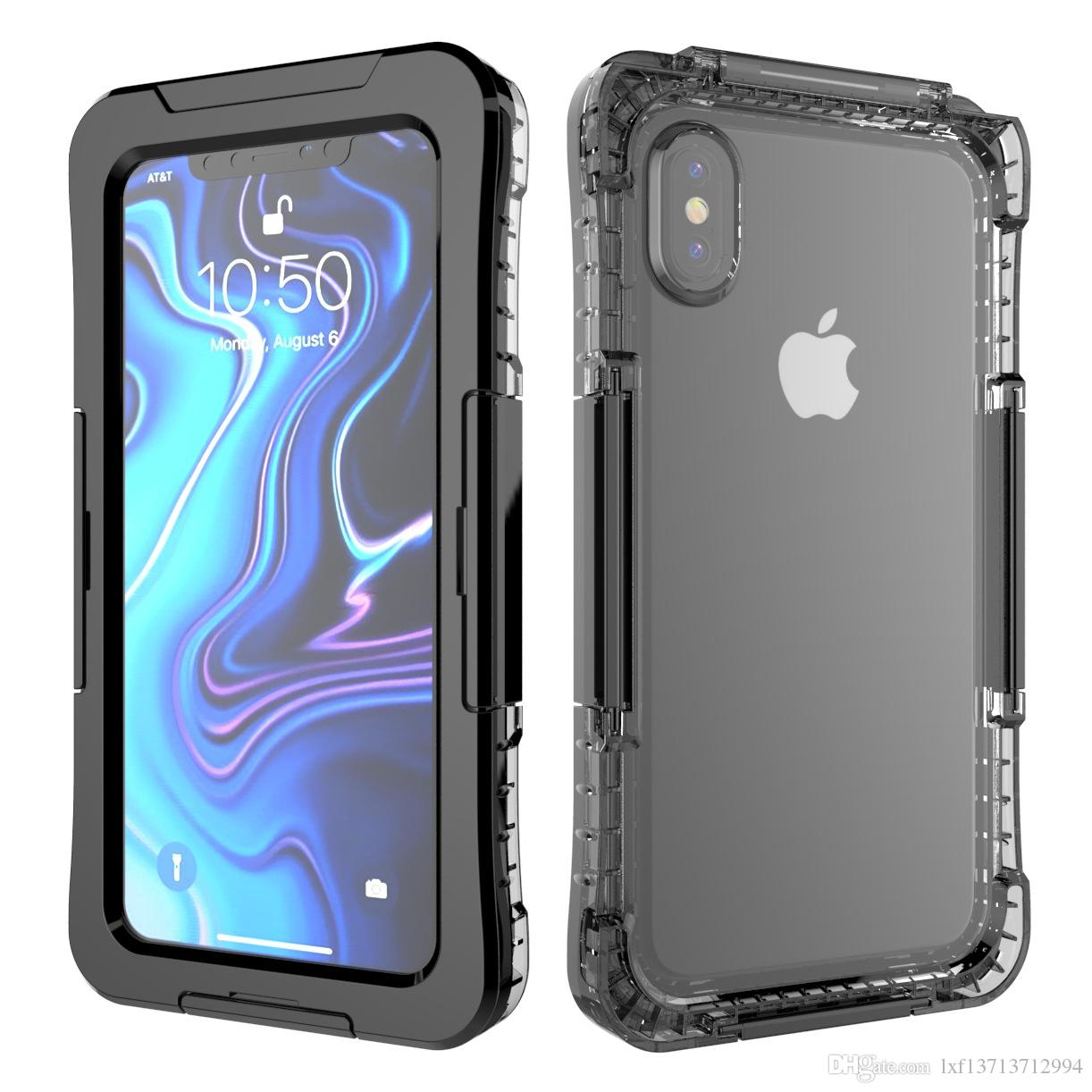 best sneakers 706b0 64c2e 2018 New Waterproof Case For iphone XS/XR/XS MAX Diving shockproof dirt  proof phone Underwater Pouch Case Cover