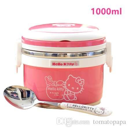 Avec Déjeuner Cuillère Des Enfants Thermos Aliments 1000ml De Pour Récipient Soupe Mug Stockage cTFJK1l3
