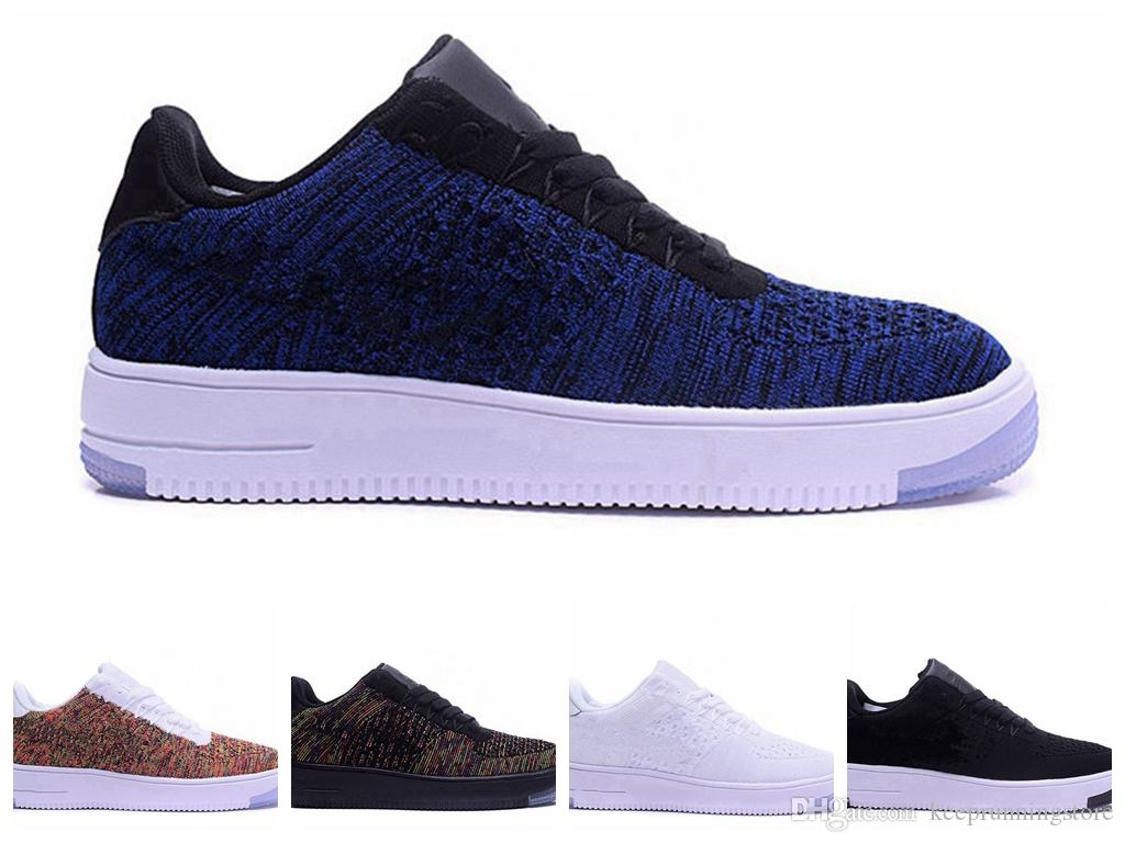 reputable site b2135 0e764 Acheter Nike Air Force 1 Flyknit I Remise Sports Sneakers En Gros Chaussures  De Course Pas Cher Causal Sneaker Femmes Hommes Top New Outdoor Chaussures  N 4 ...