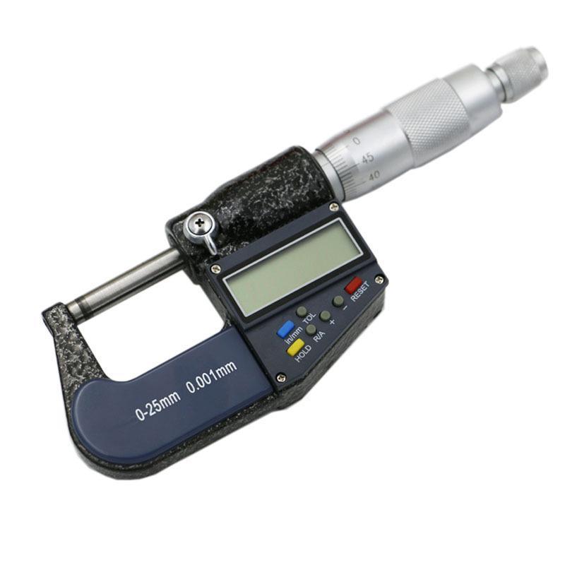 High Precision Digital Outside Micrometer Gauge Machinist Measuring 0-25mm inm