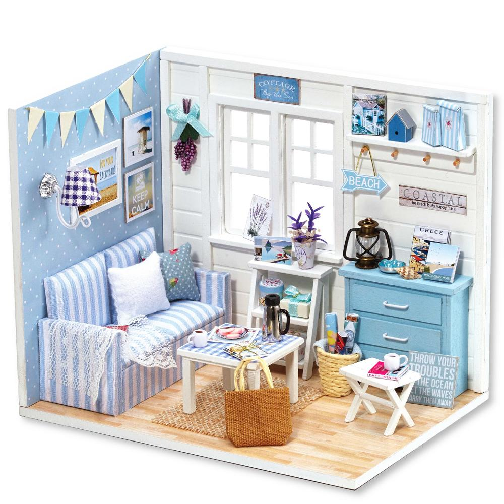 Handmade Doll House With Music Box Miniature House Model With 3d
