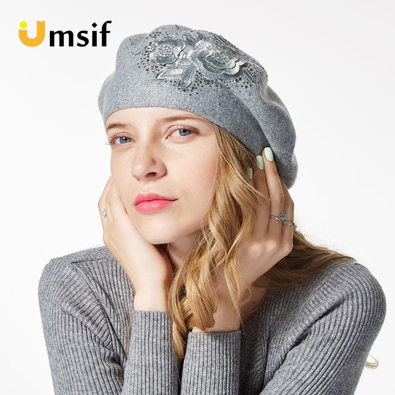 5e3c85b8738e1 Compre lana de punto de estilo francés sombreros de boina nuevo jpg 800x800  Boinas gorros estilo