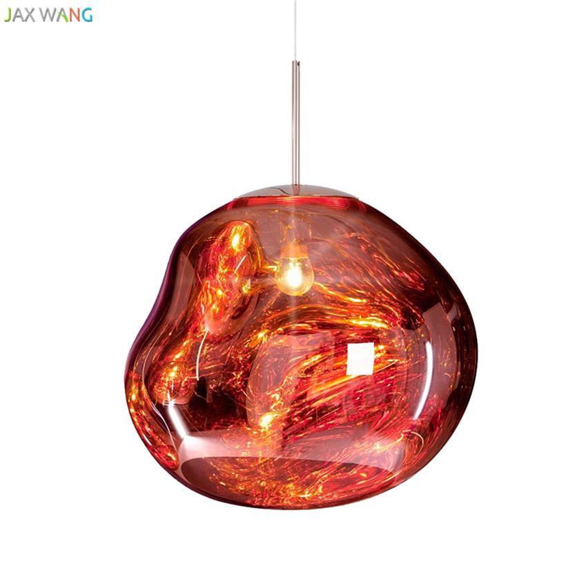 Post Modern Tom Dixon Melt Pendant Lights Glass Lava Irregular Hang