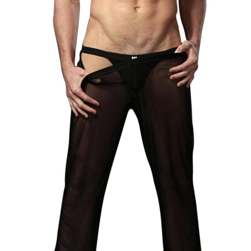 3445d111c53a 2019 Low Waisted Refreshing Pants 2017 Man Sexy Trousers Male Transparent  Sleep Bottoms Casual Mesh Sheer Slacks Pajamas Ultra Thin From Oott