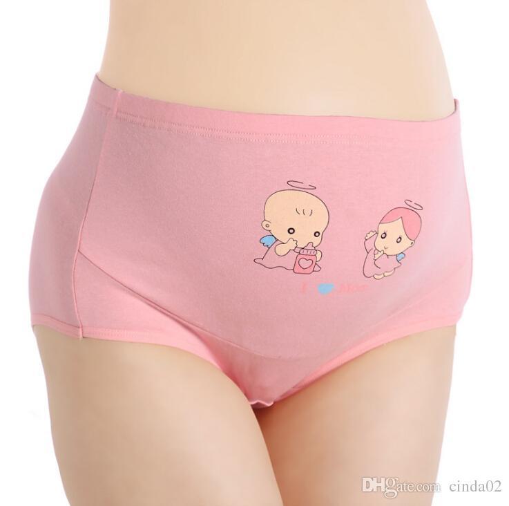 임신 한 여성 팬티면 높은 허리 큰 크기 여자 팬티 조정 출산 속옷 바지