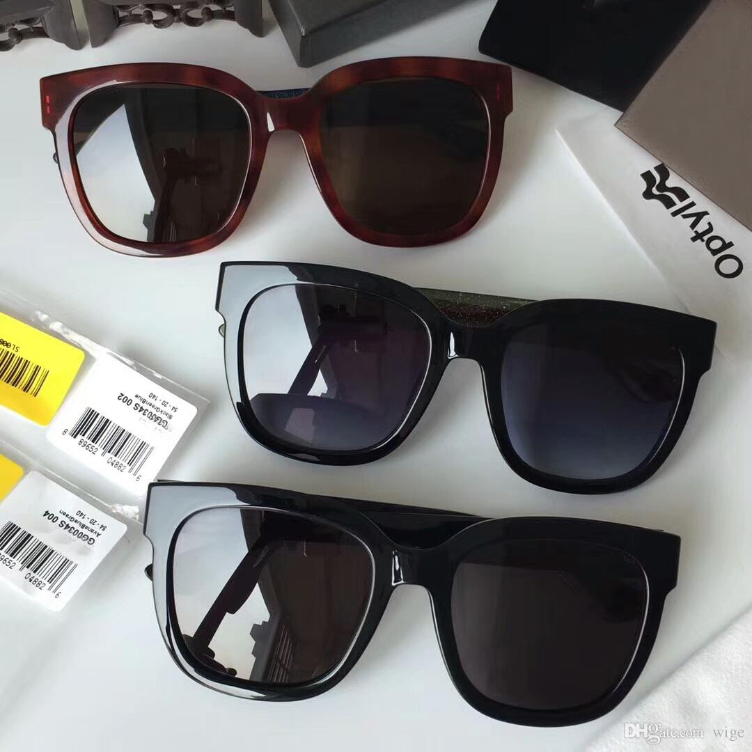 6896042ab89d Women 0034S Black Gold Fashion Plastic Square Sunglasses 54mm SONNENBRILLE  Sun Glasses Eyewear New With Box Police Sunglasses Serengeti Sunglasses  From Wige ...