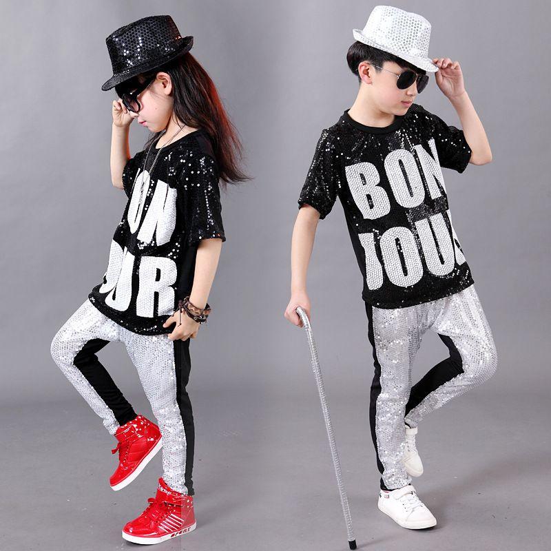 bcb382da2 2019 Fashion Boy Girl Hip Hop Dance Wear Mordern Jazz Hip Hop Top ...
