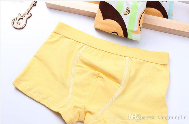 Wholesale children's cartoon Happy times underwear cotton underpant boys boxer briefs 2-10 years
